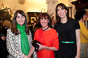 TANIA FARES; JANICE BLACKBURN; SAMANTHA CAMERON, Smythson Royal Wedding exhibition preview. Smythson together with Janice Blackburn has commisioned 5 artist designers to create their own interpretations of  Royal wedding memorabilia. Smythson. New Bond St. London. 5 April 2011.  -DO NOT ARCHIVE-© Copyright Photograph by Dafydd Jones. 248 Clapham Rd. London SW9 0PZ. Tel 0207 820 0771. www.dafjones.com.