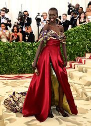 Alek Wek attending the Metropolitan Museum of Art Costume Institute Benefit Gala 2018 in New York, USA.