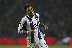 December 6, 2017 - Porto, Porto, Portugal - Porto's Brazilian defender Alex Telles celebrates after scoring goal during the UEFA Champions League Group G match between FC Porto and AS Monaco FC at Dragao Stadium on December 6, 2017 in Porto, Portugal. (Credit Image: © Dpi/NurPhoto via ZUMA Press)