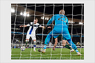 Another angle of the Jensen goal. Finland - Ireland. Helsinki, October 14, 2020.
