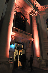 Impressive entrance lighting for a special night at Woolsey, Century on a Spree: The Whiffenpoof Centennial (1909-2009)
