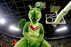 Mascot Dragon during basketball match between KK Union Olimpija and Montepaschi Siena (ITA) of 7th Round in Group D of Regular season of Euroleague 2011/2012 on December 1, 2011, in Arena Stozice, Ljubljana, Slovenia. Sena defeated Union Olimpija 63-57. (Photo by Vid Ponikvar / Sportida)