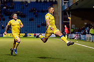 Bristol Rovers forward Jonson Clarke-Harris (19) scores a goal (0-1) and celebrates during the EFL Sky Bet League 1 match between Gillingham and Bristol Rovers at the MEMS Priestfield Stadium, Gillingham, England on 12 March 2019.