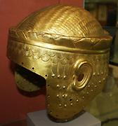 Electrotype copy of the gold helmet of Meskalamdug