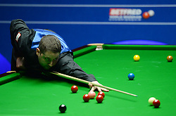 Stuart Carrington at the table in his match against Liang Wenbo on day four of the Betfred Snooker World Championships at the Crucible Theatre, Sheffield.
