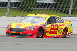 June 3, 2018 - Long Pond, PA, U.S. - LONG POND, PA - JUNE 03:  Joey Logano (22) drives the.Shell Pennzoil Ford during the Monster Energy NASCAR Cup Series - Pocono 400 on June 3, 2018 at Pocono Raceway in Long Pond, PA.  (Photo by Rich Graessle/Icon Sportswire) (Credit Image: © Rich Graessle/Icon SMI via ZUMA Press)