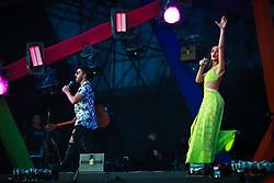 Melim durante a 25ª edição do Planeta Atlântida. O maior festival de música do Sul do Brasil ocorre nos dias 31 Janeiro e 01 de fevereiro, na SABA, praia de Atlântida, no Litoral Norte do Rio Grande do Sul. FOTO: <br /> Diego Vara/ Agência Preview