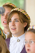 Svenskarnas Dag Girls Choir singing. Svenskarnas Dag Swedish Heritage Day Minnehaha Park Minneapolis Minnesota USA