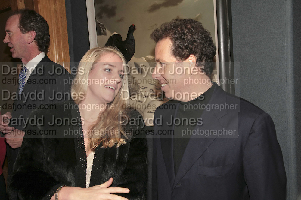 Laura Parker Bowles and Viscount Linley, Reception and auction of Wildlife and Sporting Art in aid of the game Conservancy Trust. Christie's. King St. London W1. 12 December 2006. ONE TIME USE ONLY - DO NOT ARCHIVE  © Copyright Photograph by Dafydd Jones 248 CLAPHAM PARK RD. LONDON SW90PZ.  Tel 020 7733 0108 www.dafjones.com