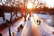 Het Vondelpark in wintertijd, Amsterdam. © Holland Kodak Ektar serie