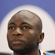 Pablo Armero, Columbia, during the Columbia Vs Canada friendly international football match at Red Bull Arena, Harrison, New Jersey. USA. 14th October 2014. Photo Tim Clayton
