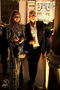 NATALIA VODIANOVA; DINOS CHAPMAN, Harpers Bazaar Women of the Year Awards. North Audley St. London. 1 November 2010. -DO NOT ARCHIVE-© Copyright Photograph by Dafydd Jones. 248 Clapham Rd. London SW9 0PZ. Tel 0207 820 0771. www.dafjones.com.