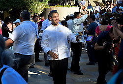 June 21, 2017 - San Antonio Mayor RON NIRENBERG waves to the crowd Wednesday during his swearing in at the Arneson River Theater on the San Antonio Riverwalk. (Credit Image: © Robin Jerstad via ZUMA Wire)