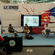 London, England, UK. 11th October 2017. Hundreds of stalls owners showcasing the hottest brands, characters and images available to license. network with the industry and talks show at Olympia London.