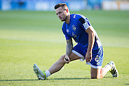 Marc Klok of Oldham Athletic warms up before the EFL Sky Bet League 1 match between Oldham Athletic and Northampton Town at Boundary Park, Oldham, England on 16 August 2016. Photo by Simon Brady.