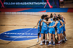 Team Slovenia during basketball match between Women National teams of Italy and Slovenia in Group phase of Women's Eurobasket 2019, on June 30, 2019 in Sports Center Cair, Nis, Serbia. Photo by Vid Ponikvar / Sportida