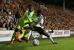 Ryan Sessegnon of Fulham and Kasey Palmer of Derby County - Mandatory by-line: Paul Terry/JMP - 14/05/2018 - FOOTBALL - Craven Cottage - Fulham, England - Fulham v Derby County - Sky Bet Championship Play-off Semi-Final