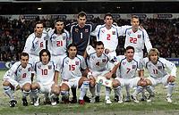 Fotball<br /> Play off VM 2006<br /> 12.11.2005<br /> Norge v Tsjekkia / Norway v Czech Republic 0-1<br /> Foto: Morten Olsen, Digitalsport<br /> <br /> Czech team<br /> Back L-R: Marek Jankulovski - Milan, Tomas Ujfalusi - Fiorentina, Peter Cech - Chelsea, Zdenek Grygera - Ajax, David Rozehnal - PSG.<br /> Front L-R: Karel Poborsky - Ceske Budejovic, Tomas Rosicky - Borussia Dortmund, Milan Baros - Aston Villa, Tomas Galasek - Ajax, Vladimir Smicer - Bordeaux and Pavel Nedved - Juventus