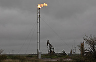 Flare in the Permain Basin, in Texas.