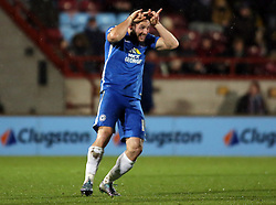 Conor Washington of Peterborough United celebrates scoring his second goal - 28/11/2015 - FOOTBALL - Glanford Park - Scunthorpe, England - Scunthorpe United v Peterborough United - Sky Bet League One
