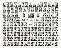 1967 Yale Divinity School Senior Portrait Class Group Photograph