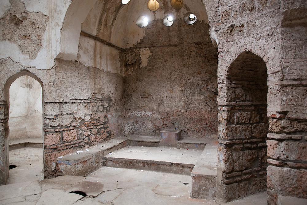 Interior view of the Gazi Mehmet Pasha Hammam (Old Turkish bathhouse) in Prizren, Kosovo.