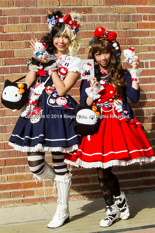 The Hello Kitty Con 2014 at the Geffen Contemporary at MOCA Friday, October 31 2014, in Los Angeles. The first official Hello Kitty fan convention was held to honor the character's 40th birthday. The convention featuring workshops, lectures and panel discussions, a fashion exhibit, tattoo shop and photo opportunities.(Photo by Ringo Chiu/PHOTOFORMULA.com)