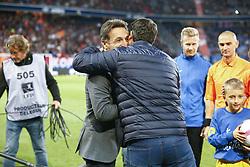 September 29, 2018 - Caen, France - Christophe Pelissier ( Entraineur coach Amiens ) et Fabien Mercadal ( Entraineur coach Caen ) accolade (Credit Image: © Panoramic via ZUMA Press)
