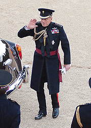 © licensed to London News Pictures. LONDON, UK  09/06/11. On the eve of his 90th Birthday, Prince Philip The Duke of Edinburgh arrives at the Beating the Retreat on Horse Guards Parade, London. On two successive evenings each year in June a pageant of military music, precision drill and colour takes place on Horse Guards Parade in the heart of London when the Massed Bands of the Household Division carry out the Ceremony of Beating Retreat. 300 musicians, drummers and pipers perform this age-old ceremony. The Retreat has origins in the early days of chivalry when beating or sounding retreat pulled a halt to the days fighting. Please see special instructions. Photo credit should read Matt Cetti Roberts/LNP