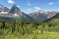 Kinnerly and Long Knife Peaks Glacier National Park Montana