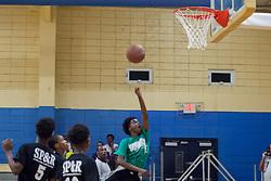 Jashem Letang goes up for a layup.  Milton M. Newton Summer Classic Basketball Single Elimination 13-16 CoEd Tournament at the Charlotte Amalie High School Gymnasium.  St. Thomas, USVI.  8 August 2016.  © Aisha-Zakiya Boyd