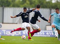 Falkirk's Lyle Taylor scoring their second goal..Falkirk 3 v 0 Stirling Albion, Ramsdens Cup..© Michael Schofield.