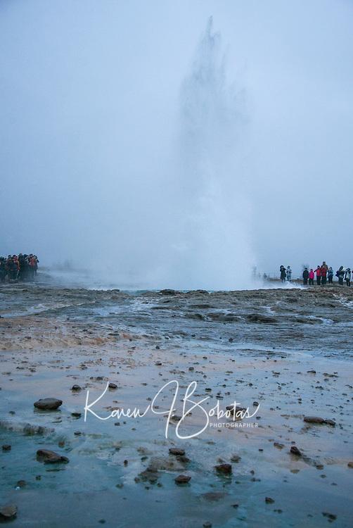 Geysir National Park in Iceland. ©2019 Karen Bobotas Photographer