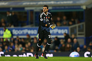 replacement Watford Goalkeeper Orestis Karnezis comes on to replace the injured Heurelho Gomes. Premier league match, Everton vs Watford at Goodison Park in Liverpool, Merseyside on Sunday 5th November 2017.<br /> pic by Chris Stading, Andrew Orchard sports photography.