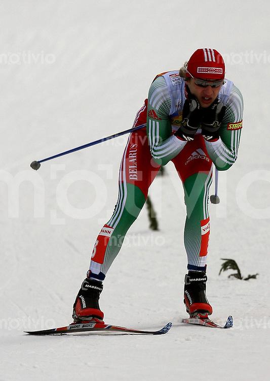 Sapporo , 280207 , Nordische Ski Weltmeisterschaft  Maenner 15km Freistil ,  Leanid KARNEYENKA (BLR)