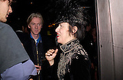 Philip Treacy and Isabella Blow. party given by Daphne Guinness for Christian Louboutin  after the opening of his new shopt.  Baglione Hotel. 16 March 2004.  ONE TIME USE ONLY - DO NOT ARCHIVE  © Copyright Photograph by Dafydd Jones 66 Stockwell Park Rd. London SW9 0DA Tel 020 7733 0108 www.dafjones.com