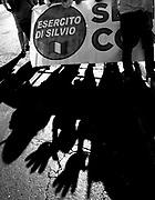 I militanti del PDL attendono nei pressi di Palazzo Grazioli la sentenza del processo Mediaset ai danni di Silvio Berlusconi<br /> Roma - 1 agosto 2013. Matteo Ciambelli / OneShot