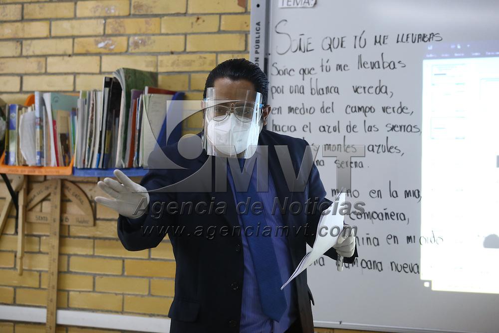 Toluca, México.- Aspectos del regreso a clases presenciales en las escuelas primarias de la ciudad de Toluca. Agencia MVT / Ramsés Mercado.