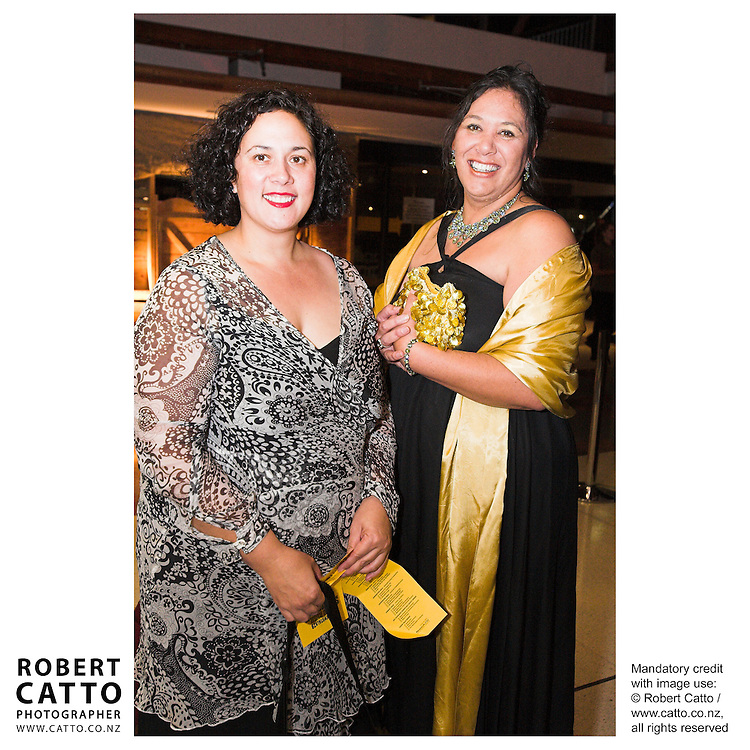 Tui Te Hau;Felicity Bollen at the Wellington Region Gold Awards 07 at TSB Arena, Wellington, New Zealand.