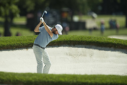 May 25, 2018 - Fort Worth, TX, USA - FORT WORTH, TX - MAY 25, 2018 - Chris Kirk hits a fairway bunker shot on the 11th hole during the second round of the 2018 Fort Worth Invitational PGA at Colonial Country Club in Fort Worth, Texas (Credit Image: © Erich Schlegel via ZUMA Wire)