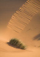 Light and shadow on sand dunes, Merzouga, Sahara Desert, Morocco