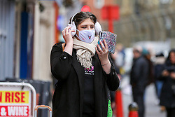 © Licensed to London News Pictures. 01/03/2020. London, UK. A woman wearing a fashionable face mask in Chinatown as a precaution against new type coronavirus (COVID-19). Twelve more people have tested positive for coronavirus in the UK, bringing the total number of cases to 35. Photo credit: Dinendra Haria/LNP