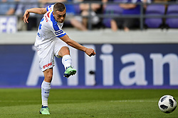 May 20, 2018 - France - Leandro Trossard forward of KRC Genk scores the 0-2 during the Jupiler Pro League play off 1 match (Credit Image: © Panoramic via ZUMA Press)