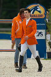 Van Grunsven Jens, (NED)<br /> Class 16 Nations Cup YR<br /> International Competition CSIO Young Riders Opglabbeek 2016<br /> © Dirk Caremans