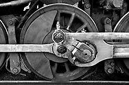 The wheel of a train