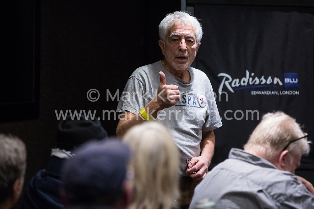 London, UK. 2nd March, 2019. Glyn Secker of Jewish Voice for Labour addresses a workshop titled 'Anti-Semitism: Re-emergence and How It's Being Fought' at the ¡No Pasaran! Confronting the Rise of the Far-Right conference at the Radisson Bloomsbury Street Hotel.