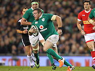 Sean Cronin of Ireland makes a break during the 2016 Guinness Series  autumn international rugby match, Ireland v Canada at the Aviva Stadium in Dublin, Ireland on Saturday 12th November 2016.<br /> pic by  John Halas, Andrew Orchard sports photography.