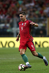 August 31, 2017 - Porto, Portugal - Portugal's forward Andre Silva in action during the 2018 FIFA World Cup qualifying football match between Portugal and Faroe Islands at the Bessa XXI stadium in Porto, Portugal on August 31, 2017. (Credit Image: © Pedro Fiuza/NurPhoto via ZUMA Press)