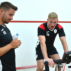 Zak Lilly and Chris Lait undergo fitness testing as AFC Telford United return to pre-season training at Lilleshall National Sports Centre on Saturday, June 29, 2019.<br /> <br /> Free for editorial use only<br /> Picture credit: Mike Sheridan/Ultrapress<br /> <br /> MS201920-003