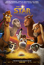 RELEASE DATE: November 17, 2017 TITLE: The Star STUDIO: Columbia Pictures DIRECTOR: Timothy Reckart PLOT: A small but brave donkey and his animal friends become the unsung heroes of the first Christmas. STARRING: Poster Art. (Credit Image: ? Columbia Pictures/Entertainment Pictures/ZUMAPRESS.com)